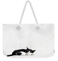Weekender Tote Bag featuring the photograph Black On White by Lisa Parrish