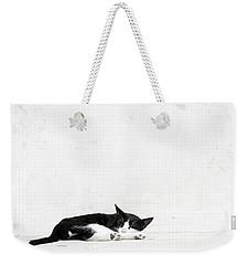 Black On White Weekender Tote Bag