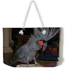 Black Palm Cockatoo Weekender Tote Bag by Sergey Lukashin