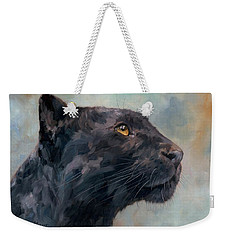 Black Panther Weekender Tote Bag by David Stribbling