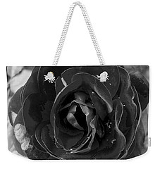 Black Rose Weekender Tote Bag by Nina Ficur Feenan