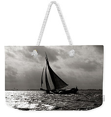 Black Sail Sunset Weekender Tote Bag