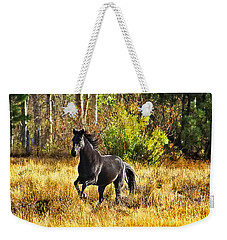 Black Stallion Runs Free Weekender Tote Bag
