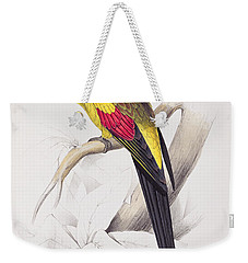 Black Tailed Parakeet Weekender Tote Bag by Edward Lear