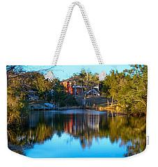 Black Water River In Blue Weekender Tote Bag