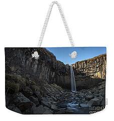 Black Waterfall Weekender Tote Bag