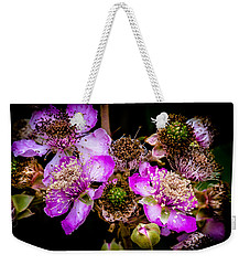 Blackberry Flower Weekender Tote Bag by Edgar Laureano