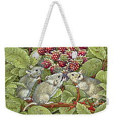 Blackberrying Weekender Tote Bag by Ditz