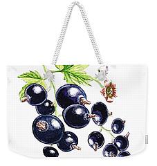 Blackcurrant Berries  Weekender Tote Bag by Irina Sztukowski