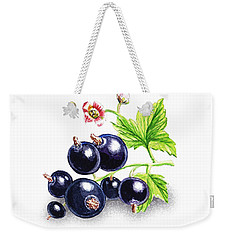 Weekender Tote Bag featuring the painting Blackcurrant Still Life by Irina Sztukowski