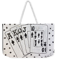 Blackjack Black And White Weekender Tote Bag