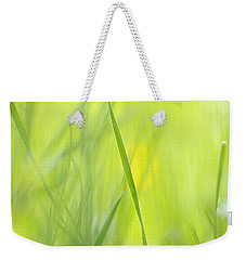 Blades Of Grass - Green Spring Meadow - Abstract Soft Blurred Weekender Tote Bag by Matthias Hauser