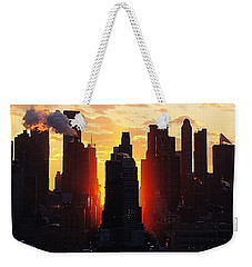 Blazing Morning Sun Weekender Tote Bag