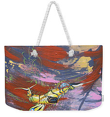 Blazing Starfighter Weekender Tote Bag