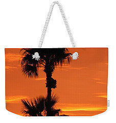 Weekender Tote Bag featuring the photograph Blazing Sunset by Deb Halloran