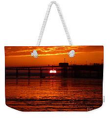 Blazing Sunset Weekender Tote Bag by Vicki Spindler