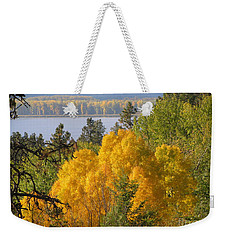 Blazing Yellow Weekender Tote Bag by Leone Lund