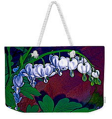 Weekender Tote Bag featuring the photograph Bleeding Heart 1 by Pamela Cooper