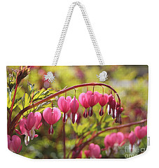 Bleeding Heart Weekender Tote Bag by Barbara Bardzik