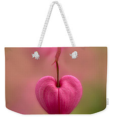 Bleeding Heart Flower Weekender Tote Bag