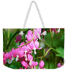 Bleeding Heart Weekender Tote Bag by Karen Silvestri