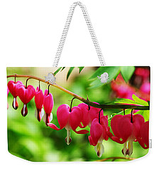 Romantic Bleeding Hearts Weekender Tote Bag