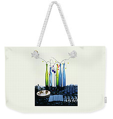 Blenko Glass Bottles Weekender Tote Bag