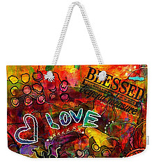 Blessed Beyond Measure Weekender Tote Bag by Angela L Walker