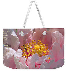 Weekender Tote Bag featuring the photograph Blessings And Blossoms  by Cindy Greenstein