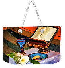 Weekender Tote Bag featuring the photograph Blessings-benediciones by Eleanor Abramson
