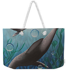 Weekender Tote Bag featuring the painting Bliss by Dianna Lewis