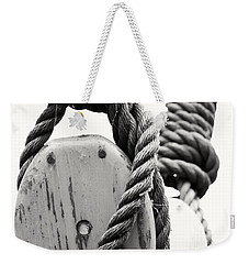 Block And Tackle Of Old Sailing Ship Weekender Tote Bag