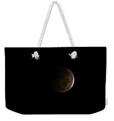 Weekender Tote Bag featuring the photograph Blood Moon by Steven Santamour