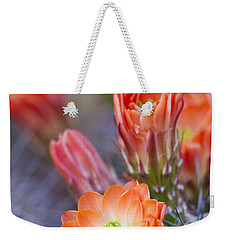 Weekender Tote Bag featuring the photograph Bloom In Orange by Bryan Keil