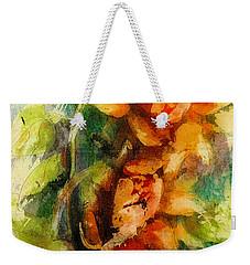 Blooming Flowers - Batik Weekender Tote Bag