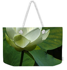 Blooming White Lotus Weekender Tote Bag