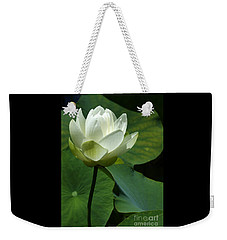 Blooming White Lotus Weekender Tote Bag