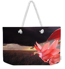 Blooms Against Tornado Weekender Tote Bag