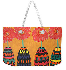 Blooms In Native Dress Weekender Tote Bag