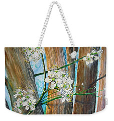 Blooms Of The Cleaveland Pear Weekender Tote Bag