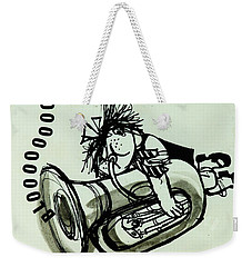 Blooooob! Ink On Paper Weekender Tote Bag by Brenda Brin Booker