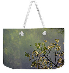 Weekender Tote Bag featuring the photograph Blossom Reflection by Marilyn Wilson