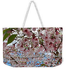 Weekender Tote Bag featuring the photograph Blossoms Rejoice by Jocelyn Friis