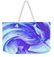 Weekender Tote Bag featuring the digital art Blue Agave Swirl by Stephanie Grant