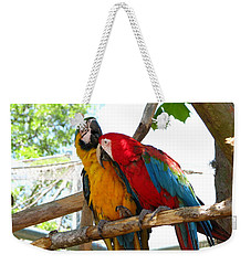Weekender Tote Bag featuring the photograph Blue And Gold by Greg Patzer