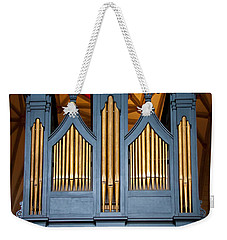 Blue And Gold Music Weekender Tote Bag