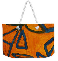 Blue And Orange Weekender Tote Bag
