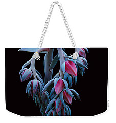 Blue And Pink Succulent Weekender Tote Bag