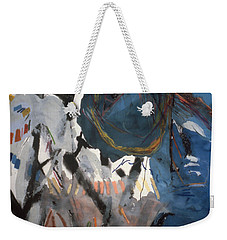 Blue And White# 1 Weekender Tote Bag
