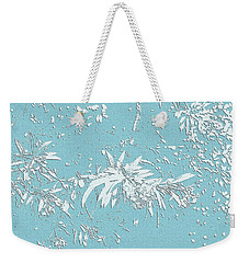 Blue And White Leaves Weekender Tote Bag